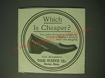 1900 Hood Rubber Co. Shoes Ad - Which is cheaper?
