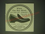 1900 Hood Rubber Co. Shoes Ad - When you buy Silver, you look for Sterling