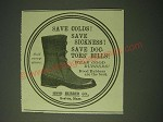 1900 Hood Rubber Co. Boots Ad - Save colds! Save Sickness! Save Doctors' Bills!
