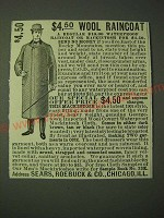 1900 Sears, Roebuck & Co. Mackintosh Ad - $4.50 Wool Raincoat