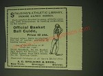 1900 A.G. Spalding Official Basket Ball Guide Ad - Spalding's Athletic Library