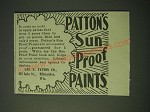 1900 Patton's Sun Proof Paints Ad