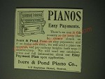 1900 Ivers & Pond Pianos Ad - easy payments