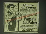 1900 Patton's Sun Proof Paints Ad - Choice of colors
