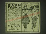 1900 W.G. Baker Baker's Tea Ad - Earn a Bicycle
