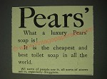 1900 Pears' Soap Ad - Pears' What a luxury Pears' soap is!