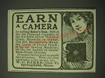 1900 W.G. Baker Baker's Tea Ad - Earn a camera