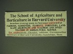 1900 The School of Agriculture and Horticulture in Harvard University Ad