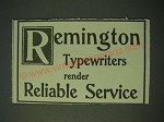 1900 Remington Typewriter Ad - Render reliable service