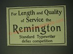 1900 Remington Typewriter Ad - For length and quality of service the Remington