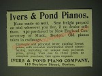1900 Ivers & Pond Pianos Ad