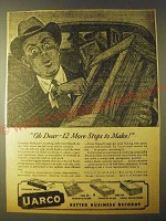 1943 Uarco United Autographic Register Company Ad - Oh Dear 12 more stops