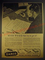 1943 Uarco United Autographic Register Company Ad - Nice work but try to get it