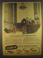 1943 Uarco United Autographic Register Company Ad - Anybody remember