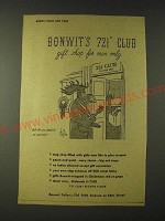 1943 Bonwit Teller Ad - Bonwit's 721 Club gift shop for men only