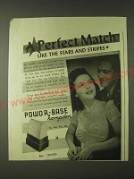 1943 Powd'r-Base Hampden Ad - A Perfect match like the stars and stripes