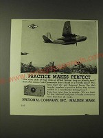 1943 National Company Inc.  Ad - Practice Makes Perfect