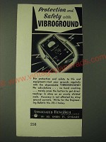 1943 Associated Research Incorporated Vibrogound Ad - Protection and safety