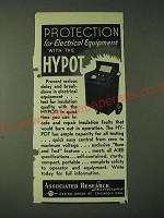 1943 Associated Research Incorporated Hypot Ad - Protection for Electrical
