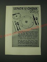 1943 Lenox Incorporated Rhodora Pattern China Ad