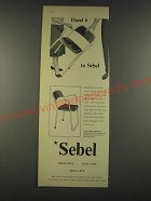 1959 Sebel Nest-A-Bye Armchairs Ad - Hand it to Sebel