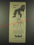 1959 Sebel High-Style Chair Ad - Take it easy