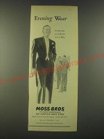 1959 Moss Bros Evening Wear Ad - Evening Wear Dinner suits and tails for sale