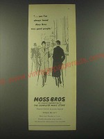 1959 Moss Bros Fashion Ad - Very good people