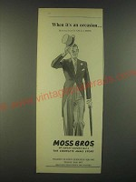 1959 Moss Bros Fashion Ad - When it's an occasion… Morning Suits for Sale