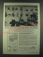 1959 Masonite Panelok Wall System Ad - Seven minutes ago this wall was bare!