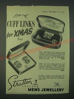 1959 Stratton Cuff Links S.313 and V.842 Ad - Cuff Links for Xmas