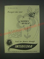 1959 Interflora Flowers Ad - Forget-me-not Valentine's Day Feb. 14th