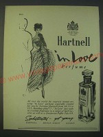 1959 Hartnell in Love Perfume Ad