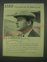 1959 Carrick Sire Cap Ad - the genuine fur felt foldaway cap