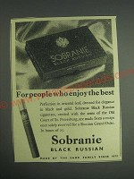 1959 Sobranie Black Russian Cigarettes Ad - For people who enjoy the best