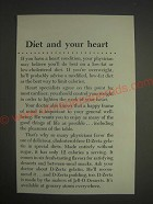 1959 D-Zerta Gelatin and Pudding Ad - Diet and your heart