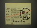 1959 Barbados Tourism Ad - Those who seek the ideal choose the exclusive charm