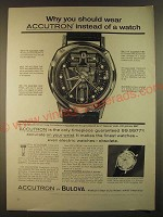 1963 Bulova Accutron Spaceview and 214 Watches Ad - Why you should wear