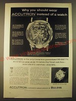 1963 Bulova Accutron Spaceview and 214 Watches Ad