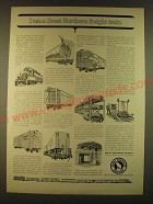 1963 Great Northern Railway Ad - I am a Great Northern freight train