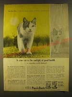 1963 Puss'n Boots Cat Food Ad - Is your cat in the sunlight of good health