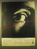 1963 Bufferin Pain Reliever Ad - Sleeplessness shadowy world of hidden pain