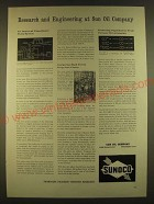 1963 Sunoco Sun Oil Company Ad - Research and Engineering at Sun Oil Company