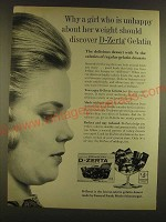 1963 D-Zerta Gelatin Ad - Why a girl who is unhappy about her weight