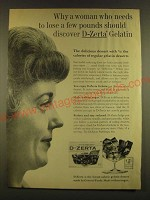 1963 D-Zerta Gelatin Ad - Why a woman who needs to lose a few pounds