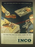 1963 Inco International Nickel Ad - Inco helps bring about new cordless wonders