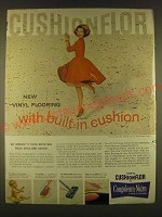 1963 Congoleum-Nairn Vinyl Cushionflor Ad - pattern Travertine #8000