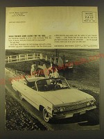 1963 General Motors Chevrolet Convertible Ad - When Friends come along