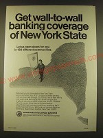1963 Marine Midland Banks Ad - Get wall-to-wall banking coverage
