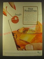 1963 Old Forester Bourbon Ad - tonight